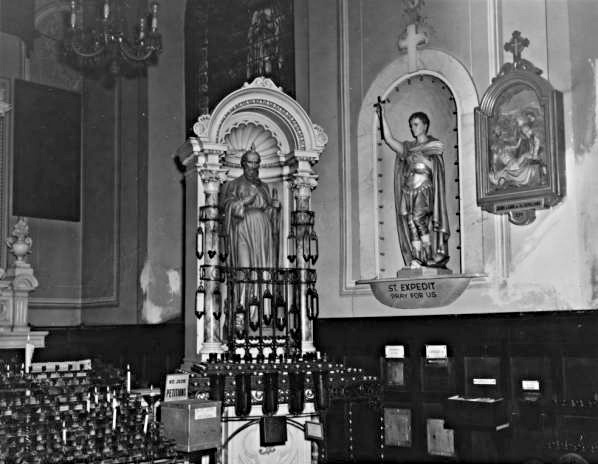 "Old Interior of The International Shrine of St. Jude (Our Lady of Guadalupe Catholic Church a.k.a ""The Old Mortuary Chapel) in Treme. Photo Courtesy: Fr. Anthony Rigoli, OMI, Pastor"