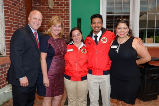 Mayor Mitch Landrieu, Cheryl Landrieu, the 2 corps members and Peggy Mendoza, Vice president and Executive Director of City Year New Orleans.