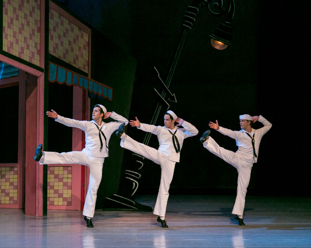 A highlight from NOBA's Stars of American Ballet will be the late American choreographer Jerome Robbins' famous master choreography about the escapades of three footloose sailors on shore leave in Manhattan, Fancy Free (1944), the brilliant precursor to the full-length stage and screen productions of On the Town.