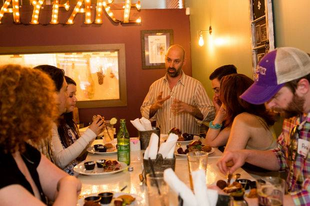 Dishcrawl allows diners to enjoy small plates from a selection of nearby restaurants, while socializing with fellow foodies.