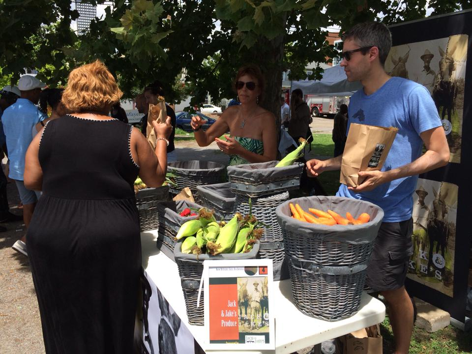 Jack and Jake's sharing fresh healthy foods with Irvin Mayfield and the New Orleans Jazz Orchestra. Photo: Jack and Jake's Facebook