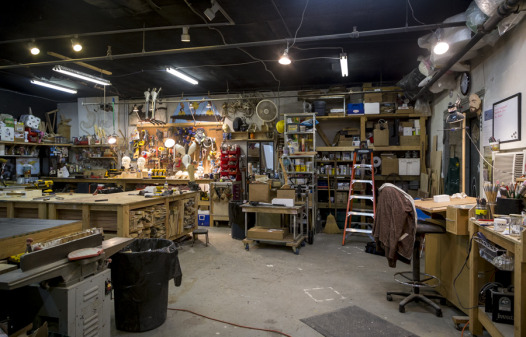 The tools of his trade in Podesta's studio (Photo: Hanna Rasanen)