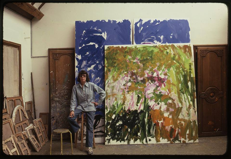 Joan Mitchell in her studio in Vétheuil, France in August 1983. (Photo:© Robert Freson)