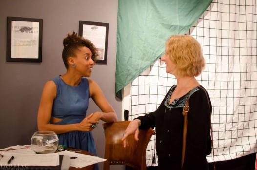 Joan Mitchell Center Director Gia Hamilton (left) at the JMC. (Photo: © Tauriac Photography)