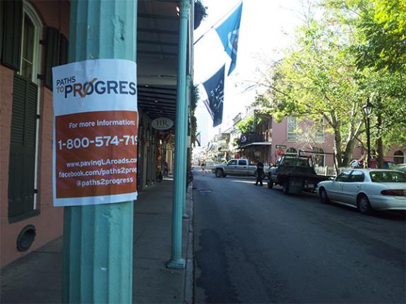 "The asphalt hack job on Royal Street—a.k.a. the ""Paths To Progress."" Photo by Brian Boyles."