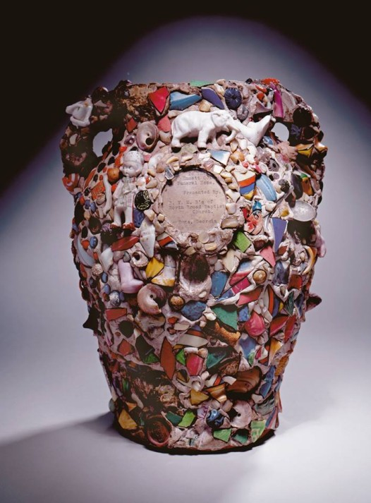"One of the pieces from NOMA's 'Kongo Across the Waters' exhibition, ""Memory jars"" were a Kongo-inspired art form, typically created to honor the dead. Decorated with bits and pieces from possessions of the deceased, these jars were often used as grave-markers. (Photo: American, Memory jar, 20th century, High Museum of Art)"