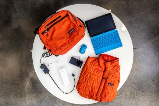 Mike Massey's backpack content. (Photo: Robert Warren)