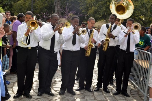 McDonogh 15 middle School brass band took first place honors in the competition's first year.