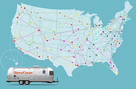 Stories all over the map (Photo: storycorps.org)