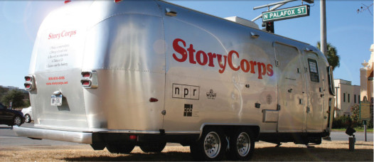 The StoryCorps airstream trailer makes 10 stops a year. (Photo: storycorps.org)