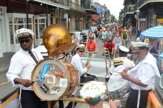 NOLA Bike to Work Week includes a cycling secondline on Friday, April 17. (Photo: Bike Easy Facebook)