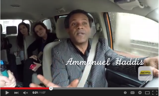 Yep, that's me in the back seat, listening to Ammanuel Haddis on life in the Big Easy.