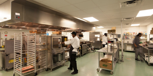 The cutting-edge kitchen would be the envy of most restaurant chefs. (Photo: libertyskitchen.org)