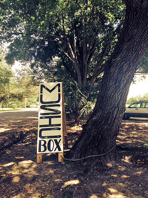 Look for the Music Box sign that marks the entrance on Harrison Avenue in City Park. (Photo: Renee Peck)