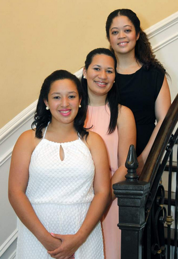 Lauren, Jessica and Brittany Bagneris, Young MenIllinois Club veterans (Photo by A.J. Sisco, The New Orleans Advocate)