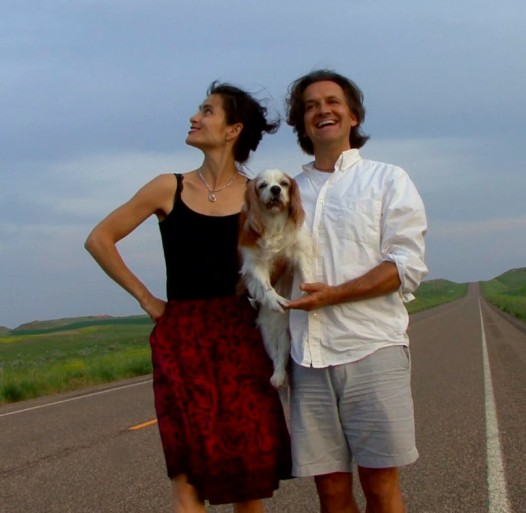 Betsy Eby and Bo Bartlett somewhere on the road.