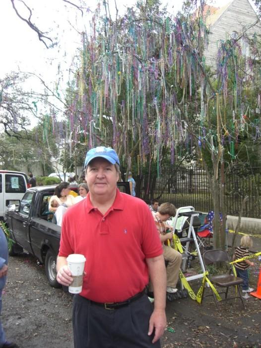 Stewart Peck on that first Mardi Gras is 2006. (Photo: Renee Peck)