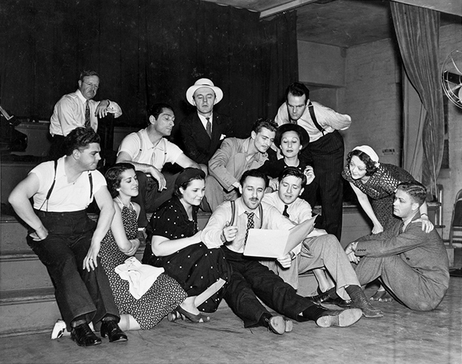 The original cast of the 1937 production of The Cradle Will Rock, which Cripple Creek Theater Company will reproduce beginning this Friday.