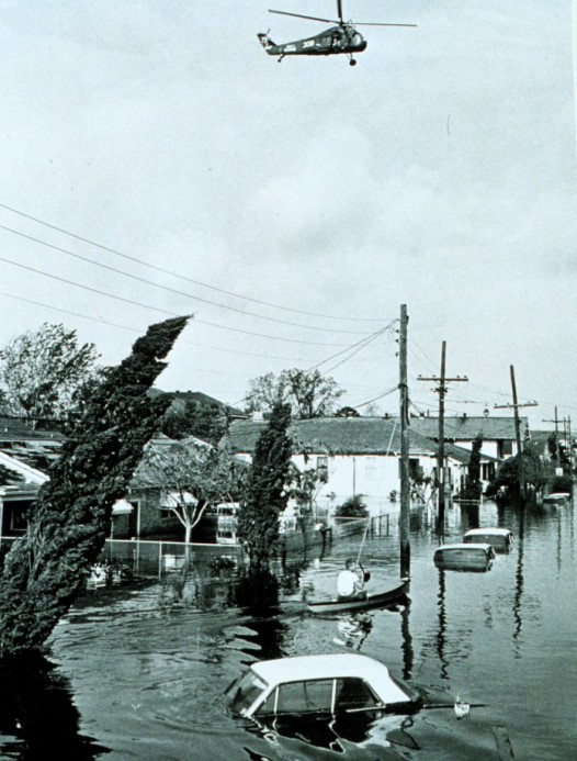 Flooding in the Lower 9th Ward after Hurricane ... Betsy. (Photo: U.S. National Oceanic and Atmospheric Administration)