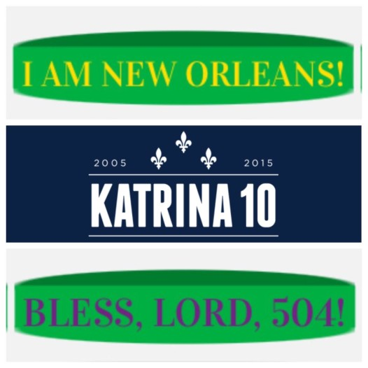 Katrina wristbands Anthony created in homage to his favorite city.