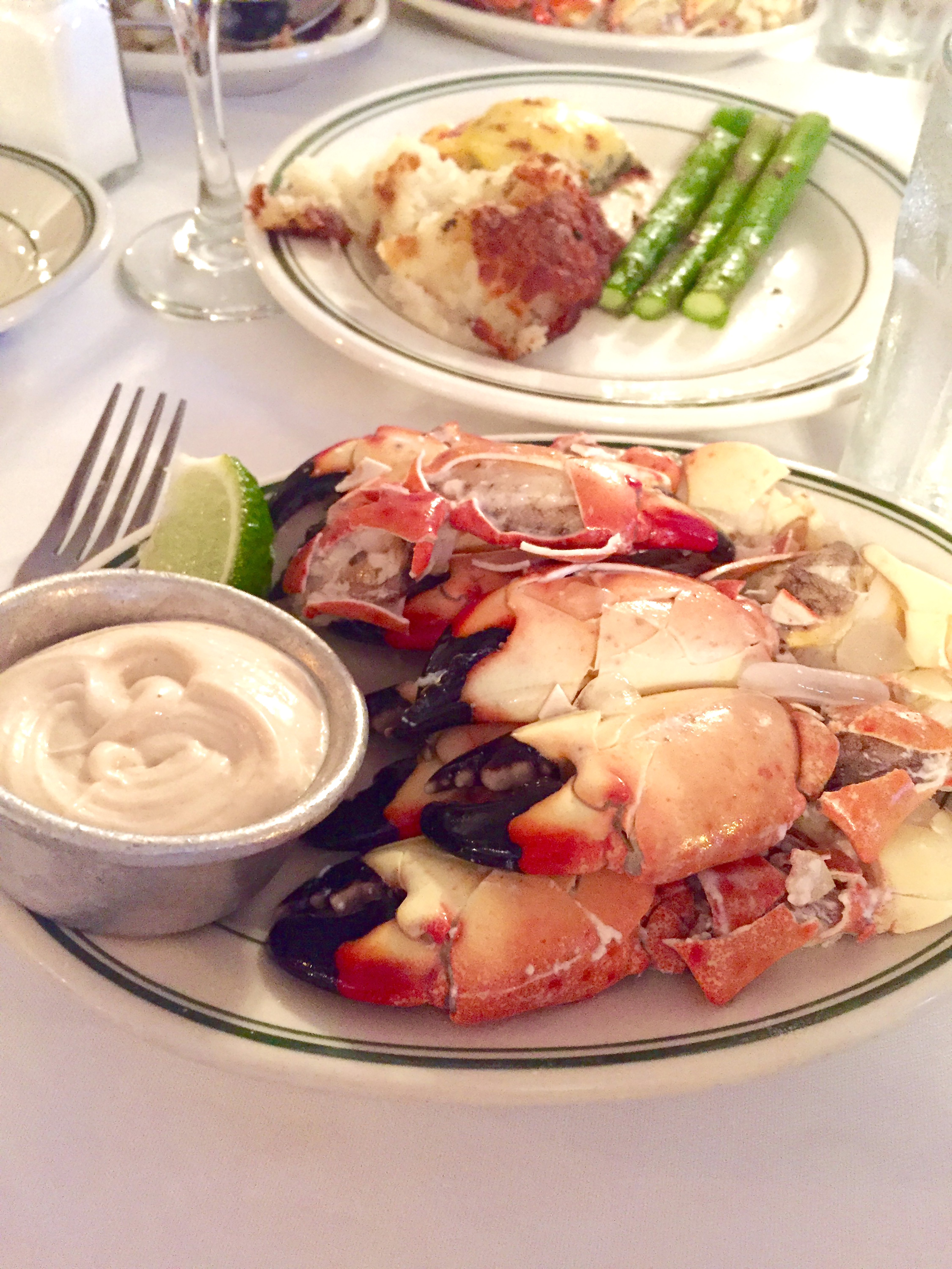 Stone crab claws at Joe's in Miami. Thank you, sir, I'll have another!