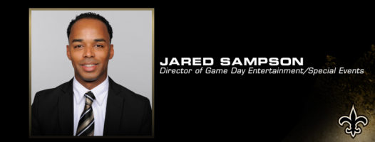 Jared Sampsan, Director of Game Day Entertainment for the Saints Photo: neworleanssaints.com)
