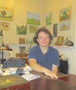 Diego Larguia in his studio
