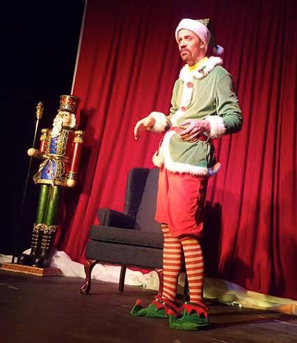 Matt Reed plays a department store elf in SantaLand Diaries.