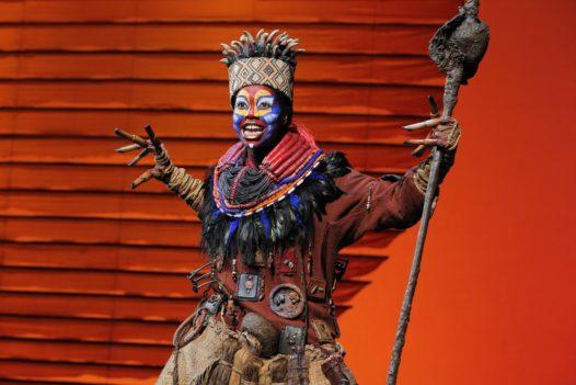 Buyi Zama (Rafiki) ©Disney. Photo by Joan Marcus