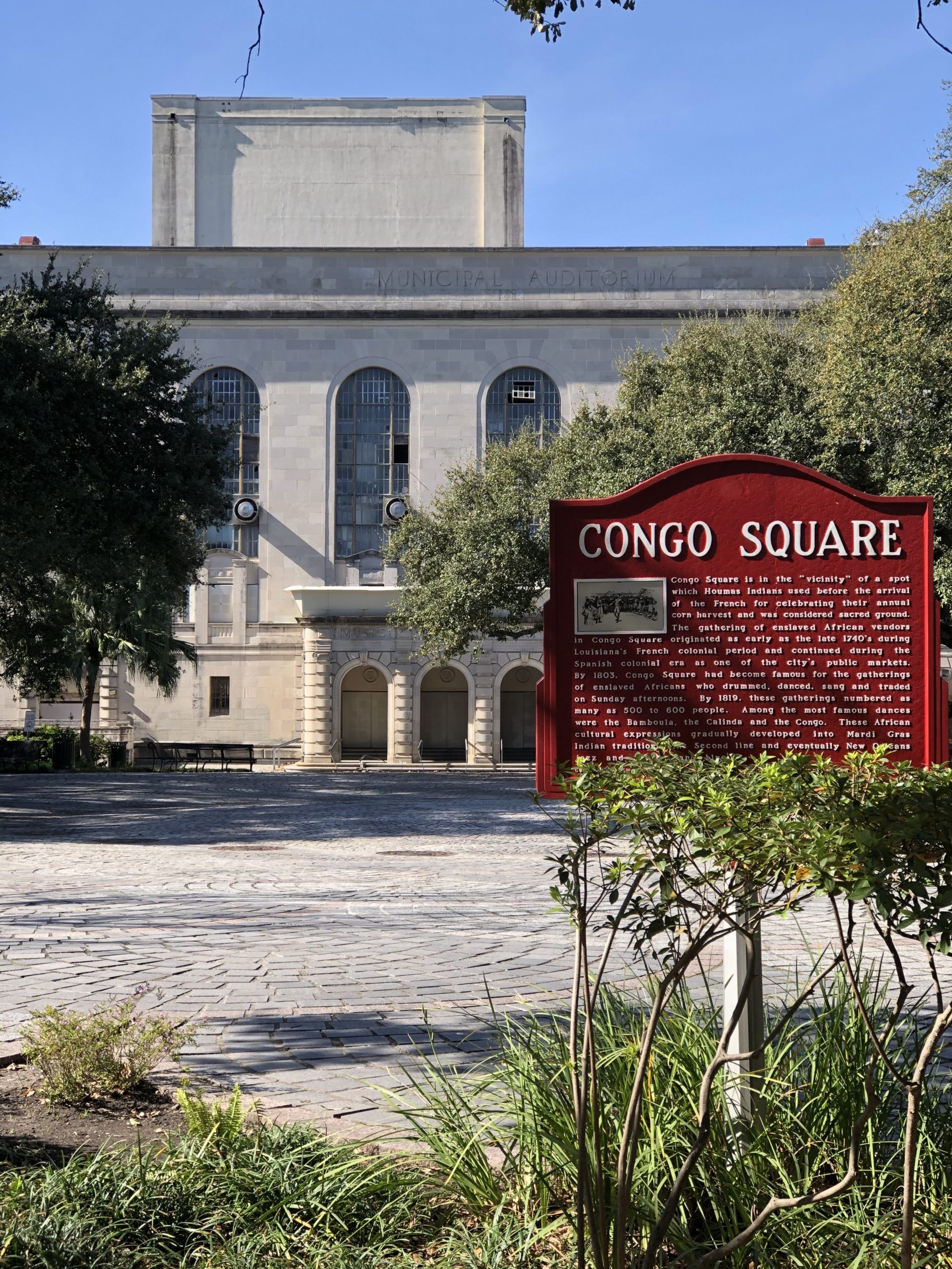 A picture of Congo Square in February 2020