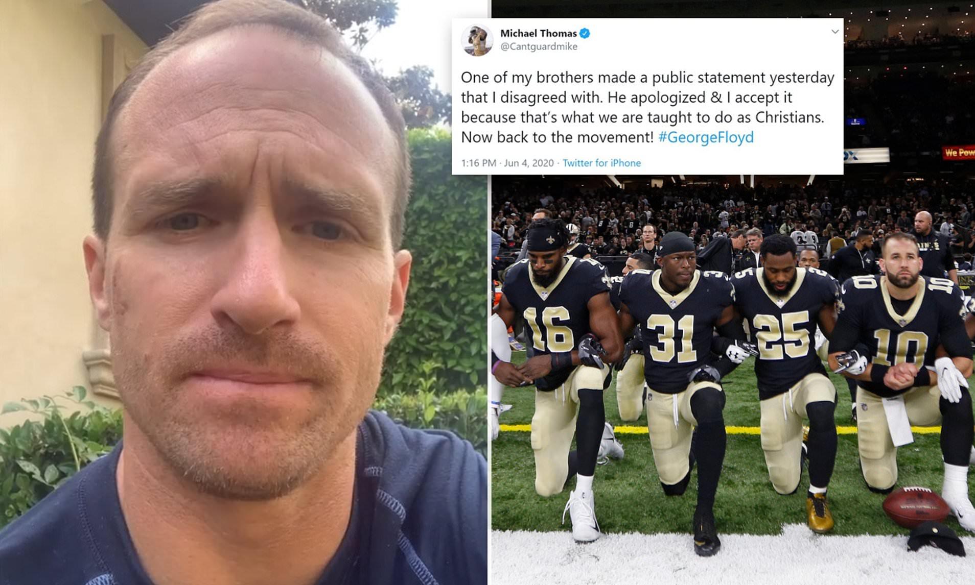 Drew Brees's statements regarding Black Lives Matter